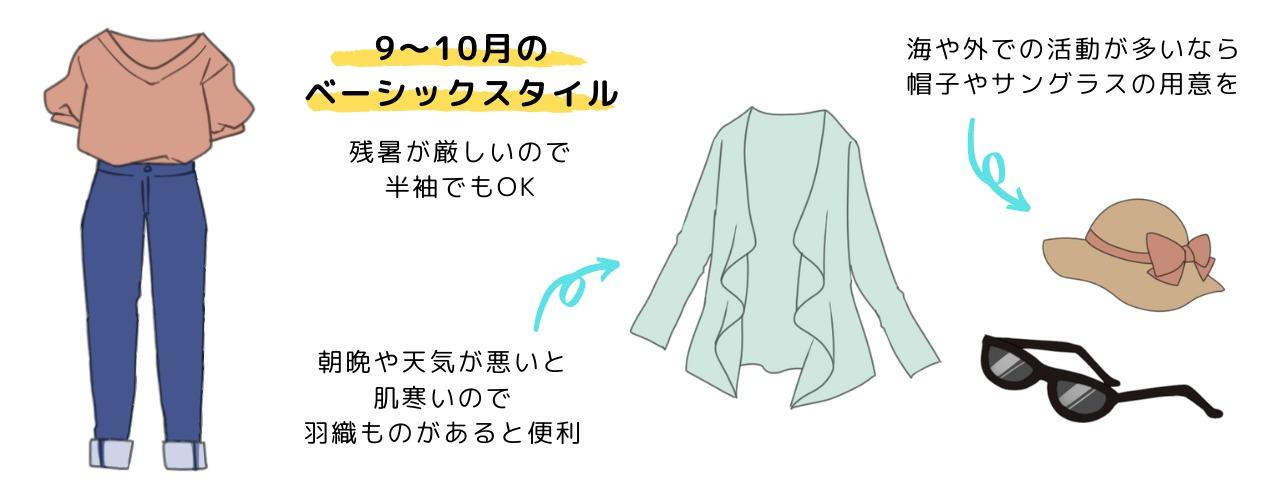 9~10月の服装