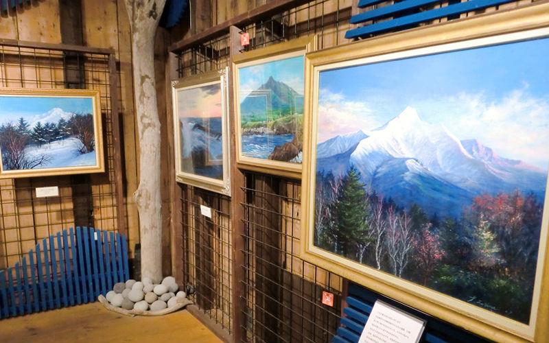 利尻富士の絵画