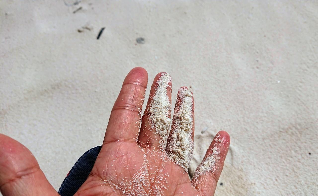 トゥマイビーチの白砂