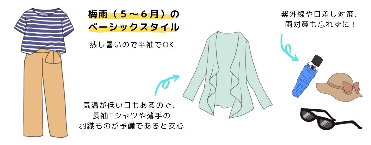 梅雨時期の服装